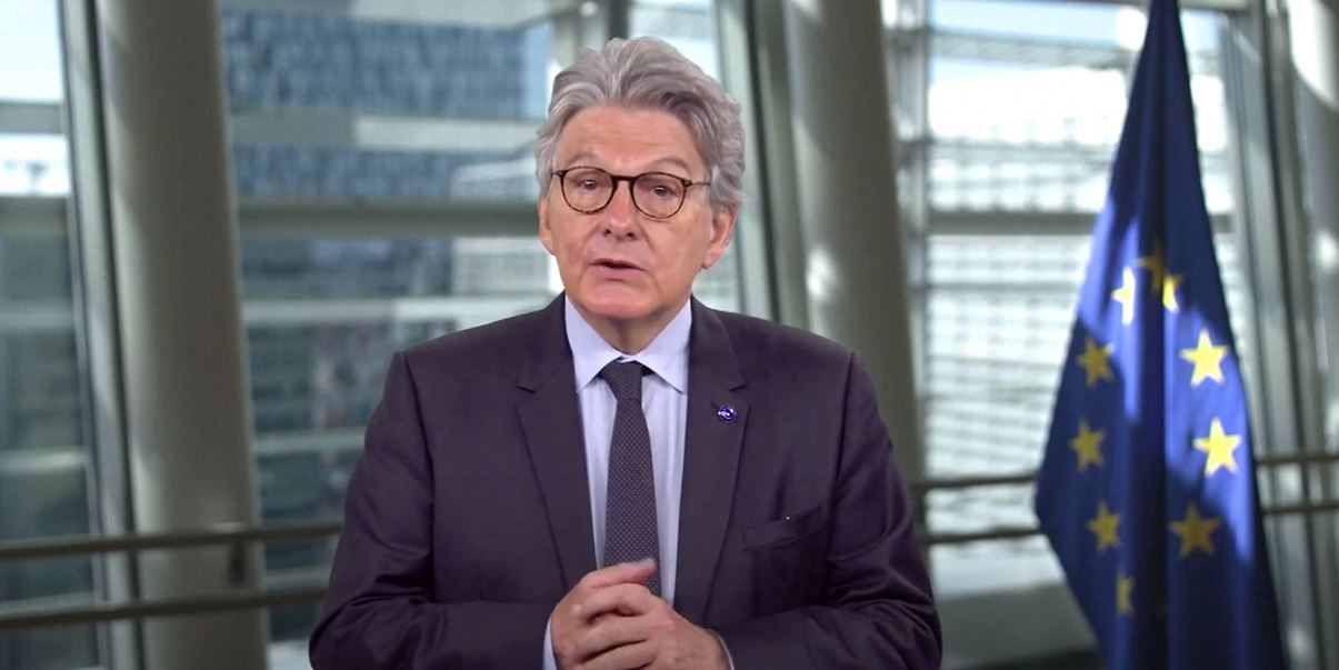 Thierry Breton highlights the role of Open Source in digital transformation.